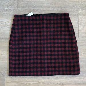 Madewell Mini Plaid Miniskirt